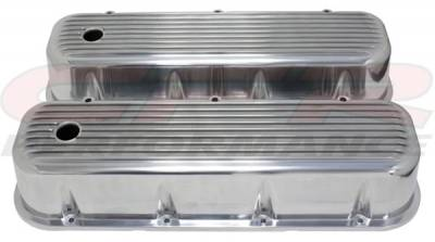 Engine Dress Up - Valve Covers - CFR - 1965-95 Chevy Big Block 396-427-454-502 Tall Aluminum Finned Billet Valve Covers