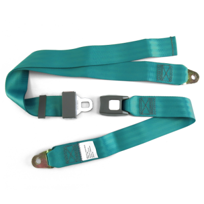 Interior Accessories - Seat Belts - SafeTboy - 2 Point Aqua Lap Seat Belt, Standard Buckle, Pair