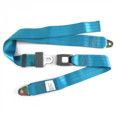 SafeTboy - 2 Point Electric Blue Lap Seat Belt, Standard Buckle, Pair