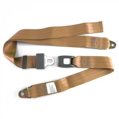 SafeTboy - 2 Point Camel Lap Seat Belt, Standard Buckle, Pair