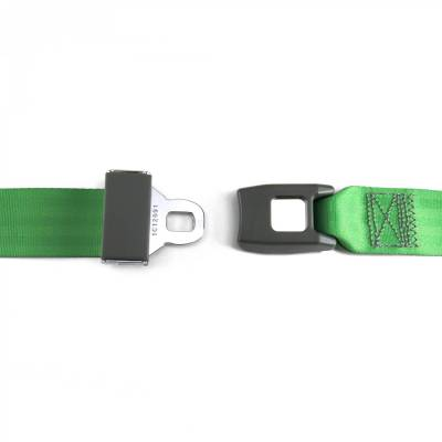 SafeTboy - 2 Point Green Lap Seat Belt, Standard Buckle, Pair - Image 2