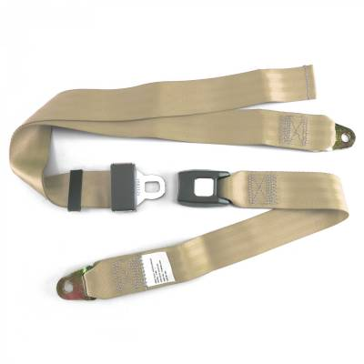 Interior Accessories - Seat Belts - SafeTboy - 2 Point Goldenrod Lap Seat Belt, Standard Buckle, Pair