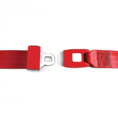 SafeTboy - 2 Point Red Lap Seat Belt, Standard Buckle, Pair - Image 2