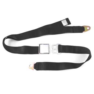 Interior Accessories - SafeTboy - 2 Point Black Lap Seat Belt, Airplane Buckle, Pair