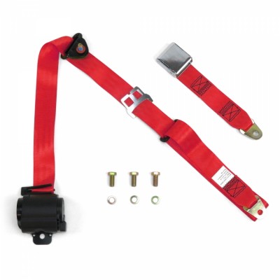 Interior Accessories - Seat Belts - SafeTboy - 3 Point Retractable Lap Seat Belt, Airplane Buckle, Pair, Your Choice of Color