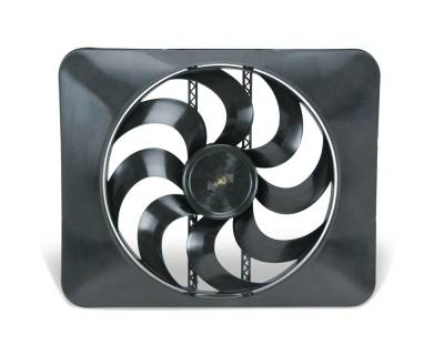 Cooling System - Fans - Flex-a-Lite - 15-inch Universal Black Magic Xtreme S-Blade Reversible Electric Fan -  3300 CFM