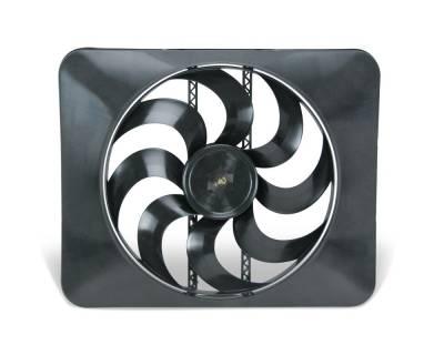 Flex-a-Lite - 15-inch Universal Black Magic Xtreme S-Blade Reversible Electric Fan -  3300 CFM