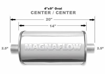 Exhaust - MagnaFlow - Magnaflow Universal Polished Stainless Steel Muffler -Oval