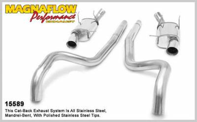 Exhaust - MagnaFlow - MagnaFlow Performance Exhaust Catback System for 2011 Mustang