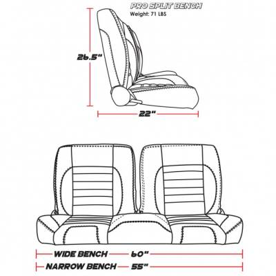 TMI Products - 1960-87 Chevy Truck Sport Pro-Classic - Complete Split Back Bench Seat - From TMI Made in the US - Image 4