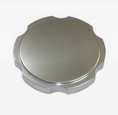 Top Street Performance - Scalloped Polished Round Billet Radiator Cap for Chevy Ford Mopar