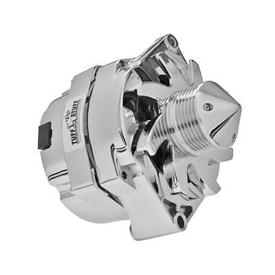 Electrical System - Tuff Stuff Performance Accessories  - Tuff Stuff Silver Bullet GM Alternator 140 AMP CHROME 6 GROOVE