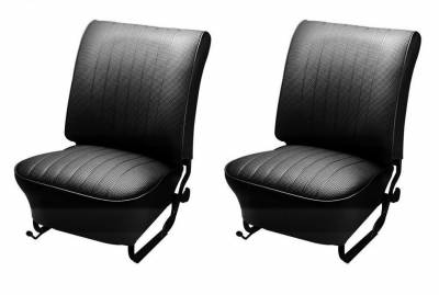 Seats & Upholstery  - TMI Products - 1956-1964 VW Volkswagen Bug Beetle Sedan Slip On Seat Upholstery, Front and Rear