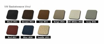 TMI Products - 1968-69 VW Volkswagen Bug Beetle Slip On Seat Upholstery, Front Seats Only - Image 2