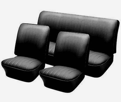 Bug, Beetle - Slip-On Style Upholstery - TMI Products - 1965-67 VW Volkswagen Bug Beetle Sedan Slip On Seat Upholstery, Front & Rear Seats