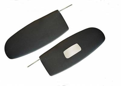 Headliners, Visors & Sailpanels - Bug, Beetle - 1958-1964 VW Volkswagen Bug Beetle Black Sunvisors w/mirror, Pair, Sedan, Convertible