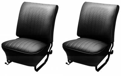 Bug, Beetle - Original Style Upholstery - TMI Products - 1954-55 VW Volkswagen Bug Beetle Sedan, Convertible Original Style Seat Upholstery, Front Only -Pair