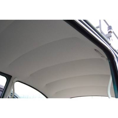 Headliners, Visors & Sailpanels - Bug, Beetle - 1947 - 67 Volkswagen Bug Sedan Easy Installation Headliner, W/Post Mat. - Perforated Vinyl