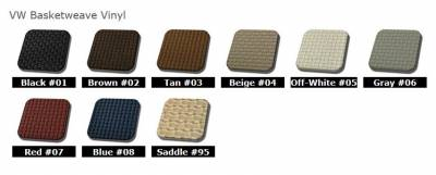 TMI Products - 1956 - 60 VW Karmann Ghia Sedan Original Seat Upholstery, Front and Rear Seats - Image 2