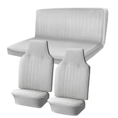 Seat Upholstery - Karmann Ghia - TMI Products - 1968 VW Karmann Ghia Sedan Original Seat Upholstery, Front and Rear Seats