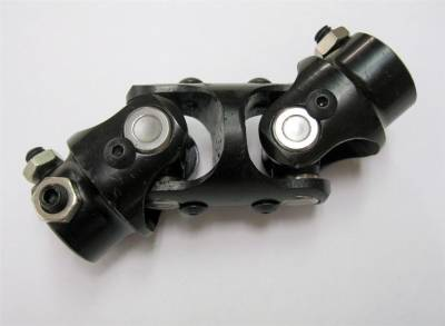 "Steering & Suspension - RPC - Steering Shaft Double U Joint 3/4"" DD x 1"" DD Column Size Black Powder Coated"