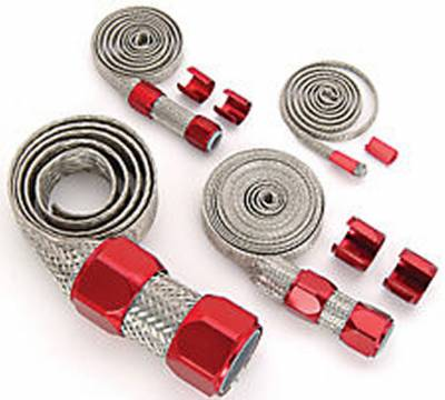 Cooling System - Cooling Accessories - Big Dog Performance Parts - Braided Hose Sleeve Kit -- Your Choice of Color