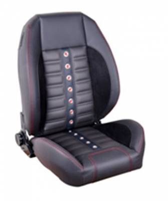 Big Dog Performance Parts - Pro-Series Universal XR Low Back Sport Seats, Pair, Black Vinyl - From TMI Made in the USA