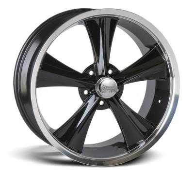 Exterior - Wheels - Rocket Racing Wheels - Rocket Racing Wheel Booster Modern Muscle Black, 18 & 20 inch
