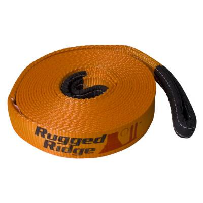Offroad - Winches & Recovery Gear - Rugged Ridge - Recovery Strap, 2, 3 or 4-inch x 30 feet by Rugged Ridge