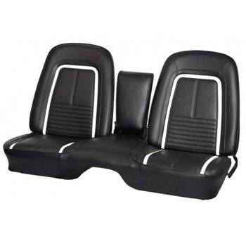 "Camaro - Seat Upholstery - TMI Products - 1967 Camaro Deluxe Front and Rear Bench Seat Upholstery - Non-Folding Rear (53"")"