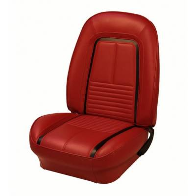 Camaro - Seat Upholstery - TMI Products - 1967 Camaro Sport Deluxe Front Bucket and Rear Bench Seat Upholstery - Folding Rear