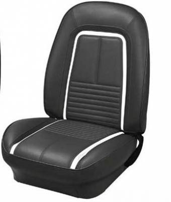 TMI Products - 1967 Camaro Coupe, Convertible Deluxe Front Bucket Seat Upholstery - Image 1