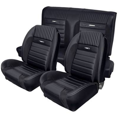 Mustang - Seat Upholstery - TMI Products - Deluxe Pony Sport R Upholstery for 1964 1/2 - 1966 Mustang Coupe w/Bucket Seats Front/Rear