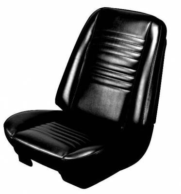 Chevelle/El Camino - Seat Upholstery - TMI Products - 1967 Chevelle Convertible Front Bucket and Rear Bench Seat Upholstery