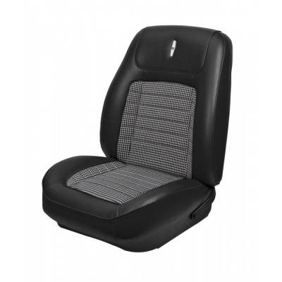 TMI Products - 1968 Camaro Sport Deluxe Front Bucket Seat and Non-Folding Rear Seat Upholstery - Image 2
