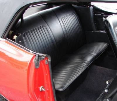 Camaro - Seat Upholstery - TMI Products - 1967 - 1968 Camaro Coupe Folding Rear Bench Seat Upholstery
