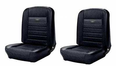 TMI Products - Deluxe Pony Upholstery for 1964 1/2 - 1966 Mustang Coupe w/Bucket Seats Front/Rear - Image 4