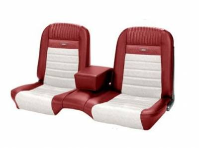 Mustang - Seat Upholstery - TMI Products - Deluxe Pony Upholstery for 1964 1/2 - 1966 Mustang Coupe, Convertible, 2+2 w/Bench Seat Front Only