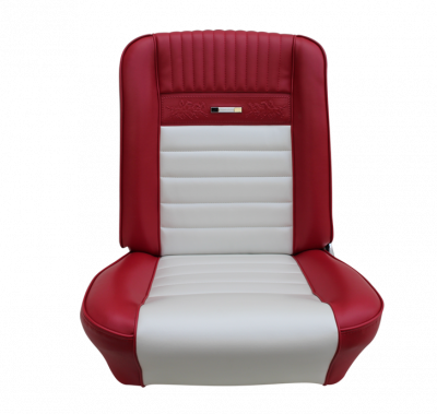 Mustang - Seat Upholstery - TMI Products - Deluxe Pony Upholstery for 1964 1/2 - 1966 Mustang Coupe, Convertible, 2+2 w/Bucket Seats Front Only