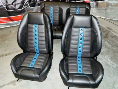 TMI Products - 1969 Camaro Sport XR Premium Front Bucket and Rear Seat Upholstery, Folding Rear - Image 5