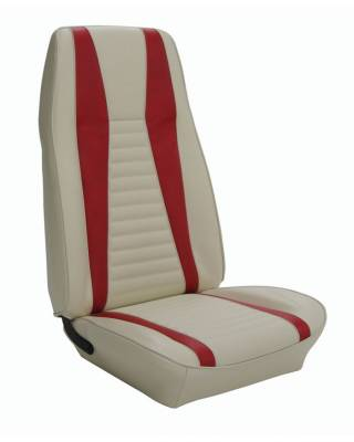 TMI Products - Standard Upholstery for 1971-73 Mustang Mach I Coupe w/Bucket Seats (Front Only)