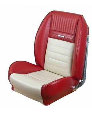 Mustang - Seat Upholstery - TMI Products - Deluxe Pony Sport Seat II Upholstery for 1964 1/2 - 1966 Mustang Coupe w/Bucket Seats Front/Rear