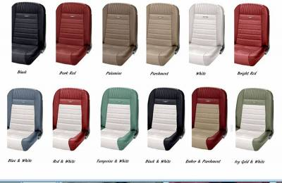 TMI Products - Deluxe Pony Sport Seat II Upholstery for 1964 1/2 - 1966 Mustang Coupe w/Bucket Seats Front/Rear - Image 2