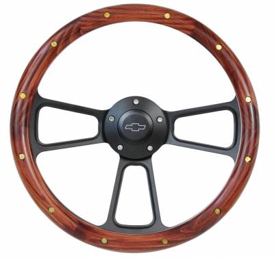 "Steering Wheels - 14"" Wood Steering Wheels - Wood Steering Wheel Kits"