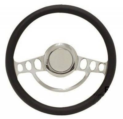 "Forever Sharp Steering Wheels - Replacement 14"" Muscle Style Steering Wheel Half-Wrap, Your Choice of Color"