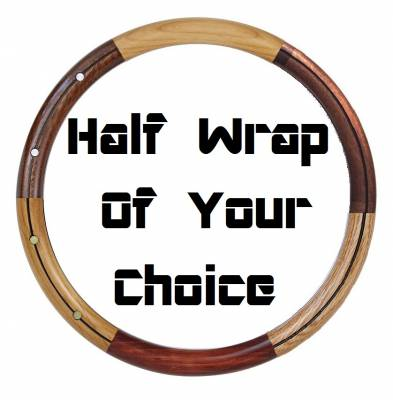 "14"" Wood Steering Wheels - Wood Steering Wheels - Forever Sharp Steering Wheels - Wood Half Wrap Your Choice Of Style"