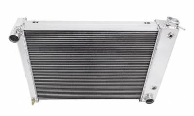 Champion Cooling Systems - Champion Four Row All Aluminum Radiator 1967-1969 Camaro/Firebird MC337