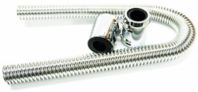 "Cooling System - RPC - 24"" Chrome Radiator Hose Kit"