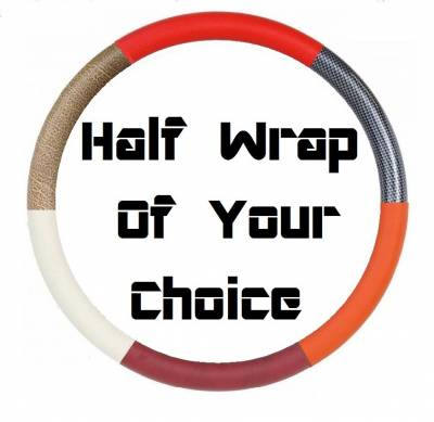 "14"" Vinyl Half Wrap Steering Wheels - Vinyl Half Wrap Wheels - Forever Sharp Steering Wheels - Vinyl Half Wrap Your Choice Of Color"