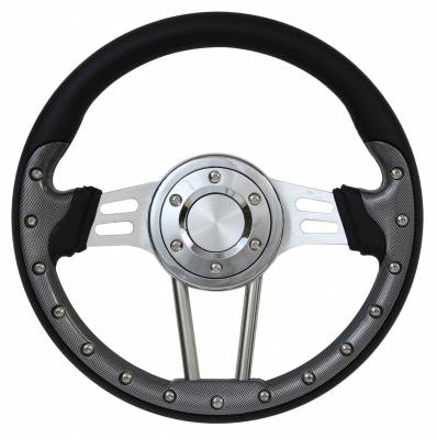 "Forever Sharp Steering Wheels - 13.5"" Dual Spoke Carbon Fiber Performance Steering Wheel"